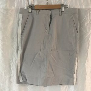 Gap Grey skirt with racing stripes size 8